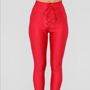 Fashion Nova Pants - Tying Up Loose Ends Leggings